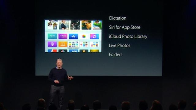 Apple TV updated with folders, dictation and Siri for App Store