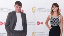 Daisy Edgar Jones and Paul Mescal socially distance on the red carpet at the BAFTA TV Awards