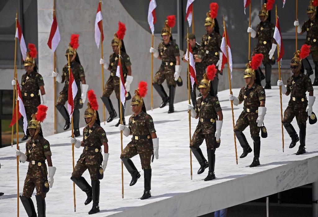 The presidential investiture is marked by pomp and high security (AFP Photo/Carl DE SOUZA)