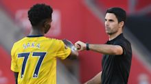Arteta sends Saka message after Arsenal youngster scores first Premier League goal