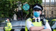 Man arrested on suspicion of damaging Winston Churchill statue in Parliament Square