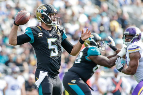 Blake Bortles isn't likely to attempt another 625 passes this season.