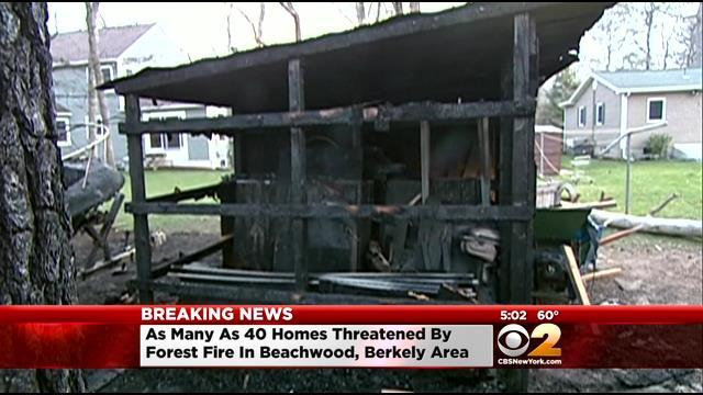Wildfires Threaten Homes In Southern New Jersey