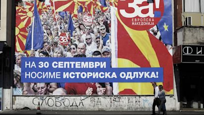 Macedonia MPs vote to change country's name, easing tension with Greece