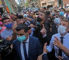 Beirut explosion: Angry Lebanese mob Emmanuel Macron demanding 'revolution' against their leader