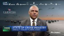 Carnival CEO address impact of hurricanes that ravaged Ca...