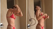 Instagram model pokes fun at her shower head fail: 'When you get hit with that 'k' reply'