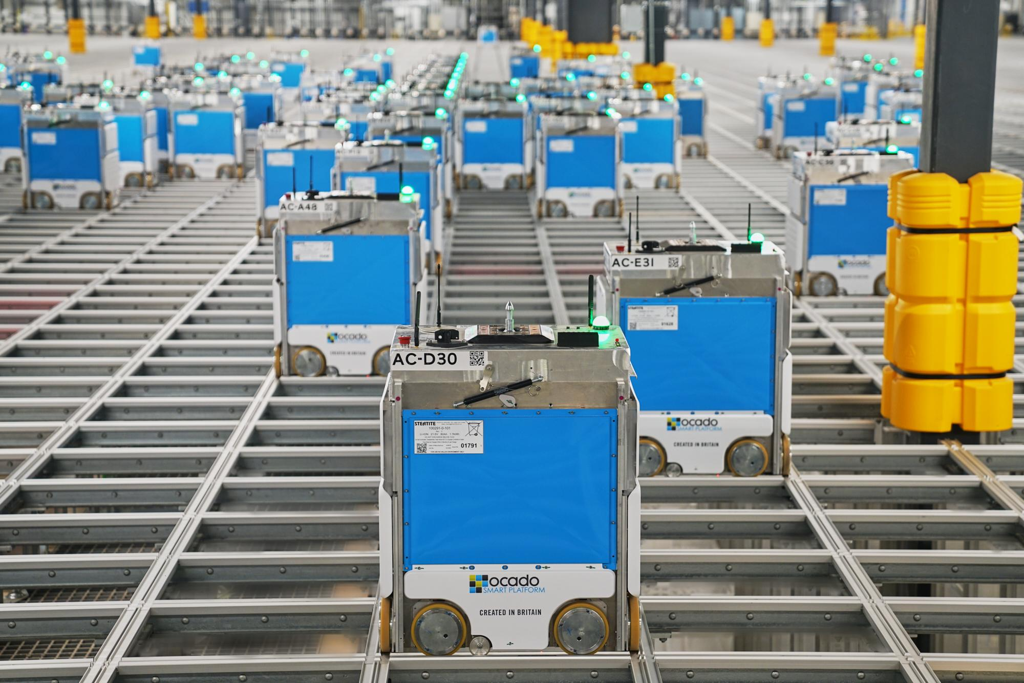 Kroger launches its first Ocado-powered 'shed', a massive, robot-filled fulfillment center in Ohio