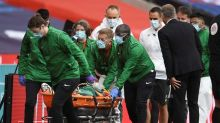 Man United's Bailly taken to hospital after clash of heads