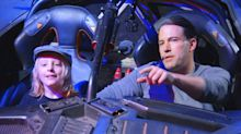 Batmobile-Driving Ben Affleck Surprises Fans Taking Studio Tour
