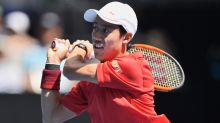 'Up and down' Nishikori eases into Australian Open third round