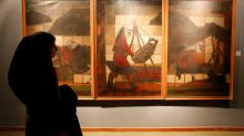 Japan oil artist back to 'frozen' Iran museum 40 years on