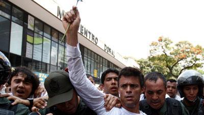 Venezuela Opposition Leader Surrenders to Police