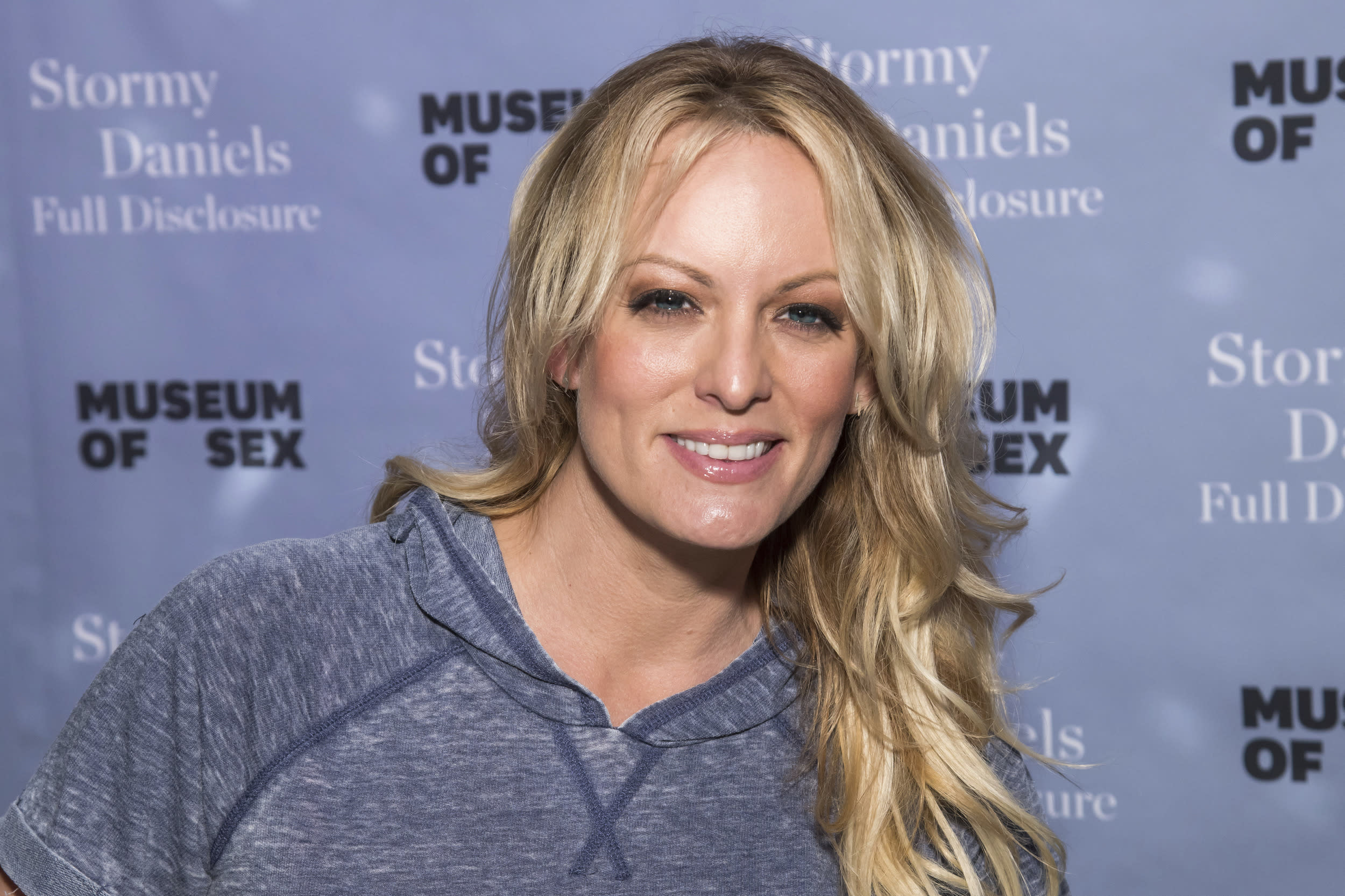 """Adult film actress Stormy Daniels attends a book signing for her memoir """"Full Disclosure"""" at the Museum of Sex on Monday, Oct. 8, 2018. (Photo by Charles Sykes/Invision/AP)"""