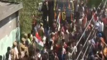 Locals raise patriotic slogans as body of rifleman killed in Pakistani ceasefire violation arrives in Jammu