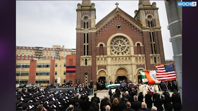 NYPD Lines Up At Funeral For Fallen Officer