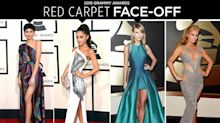 Grammys Red Carpet Face-Off: Taylor Swift, Ariana Grande & More