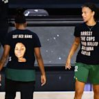 Basketball players in new protest over killing ofBreonna Taylor