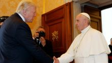 All smiles, in public at least, as Trump meets Pope