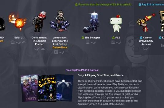 PAX10 Humble Flash Bundle discounts the showstoppers