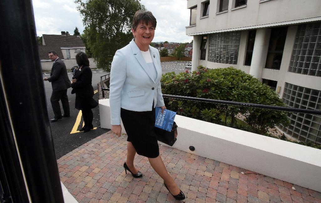 Arlene Foster, leader of Northern Ireland's Democratic Unionist Party, said she was ready to 'bring stability' to Britain (AFP Photo/Paul FAITH)