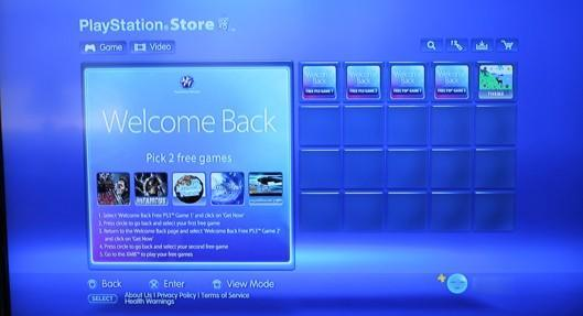 PlayStation Network's 'Welcome Back' content now available