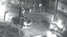 Shocking CCTV shows the moment a stolen car is reversed into a police officer