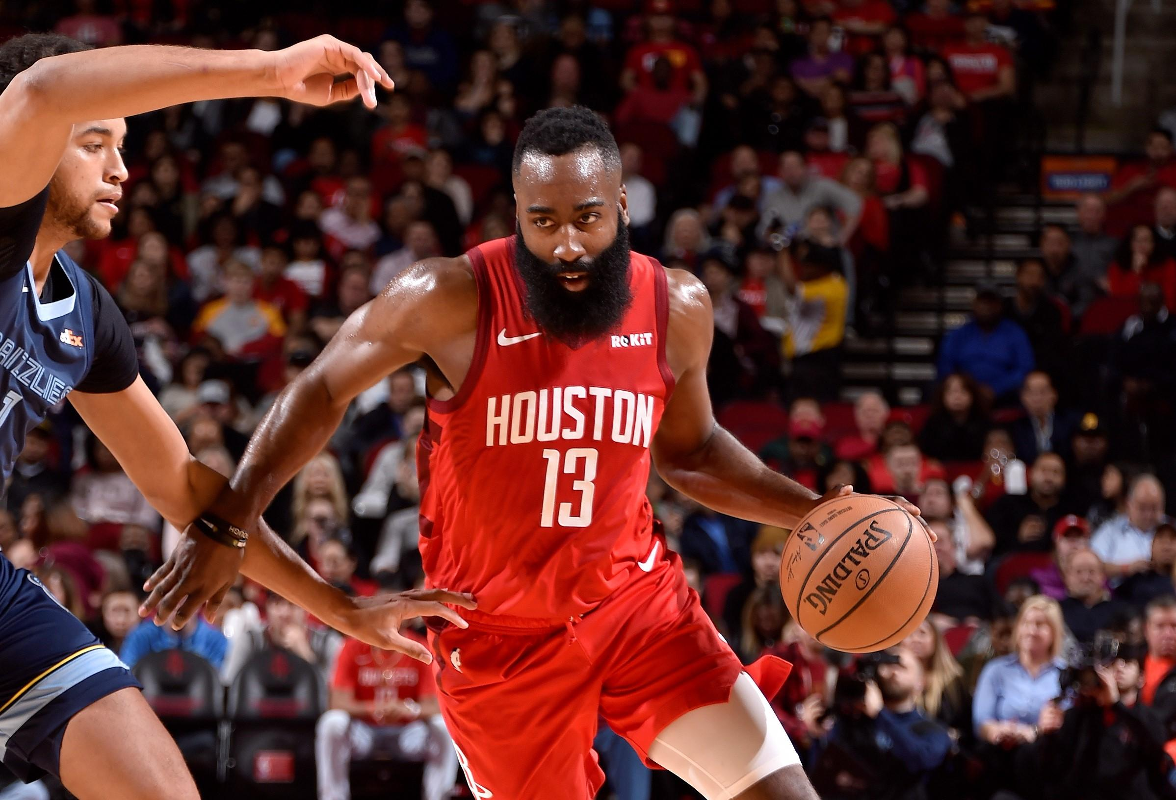 Rockets' James Harden posts 8th straight 35-point game