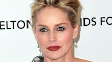 Sharon Stone demonstrates Basic Instinct scene on stage