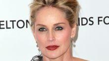 Sharon Stone demonstrates Basic Instinct scene on stage
