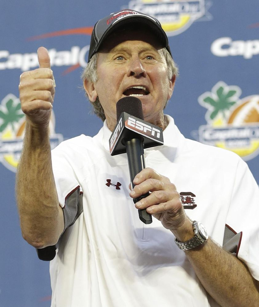 Spurrier pleased with South Carolina's offense