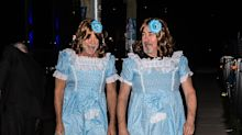 Bruce Willis and his buddy as the twins from 'The Shining' is possibly more freaky than the originals