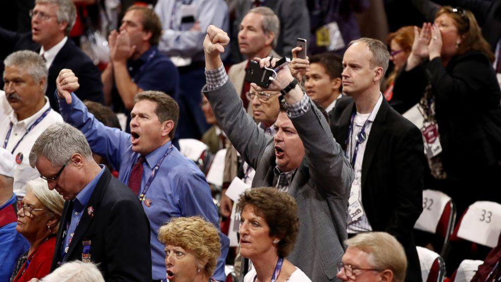 Republican Convention Floor Erupts in Chaos as Never-Trump Forces Thwarted