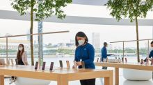Apple created a face mask with a 'unique' look for its retail employees, designed by the engineering teams that work on the iPhone and iPad