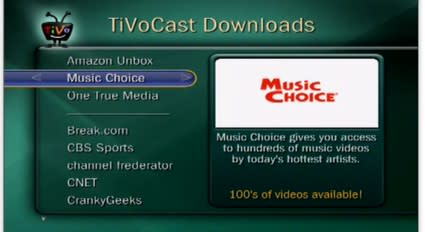 TiVo now offering Music Choice content to subscribers