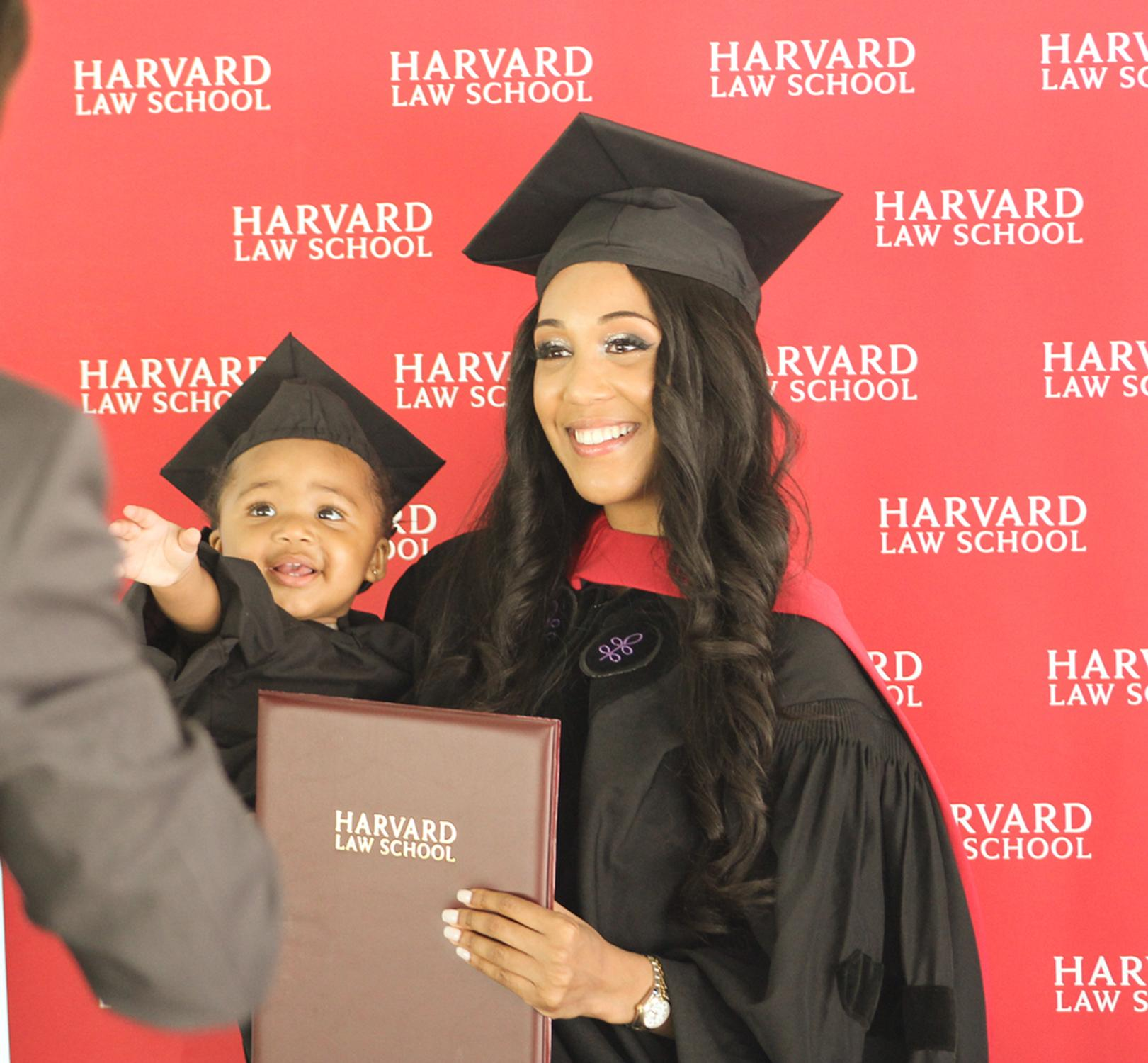 Single mom, 24, graduates from Harvard Law School: 'Let's keep beating all their odds'