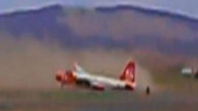 Raw Video: Tanker makes emergency landing