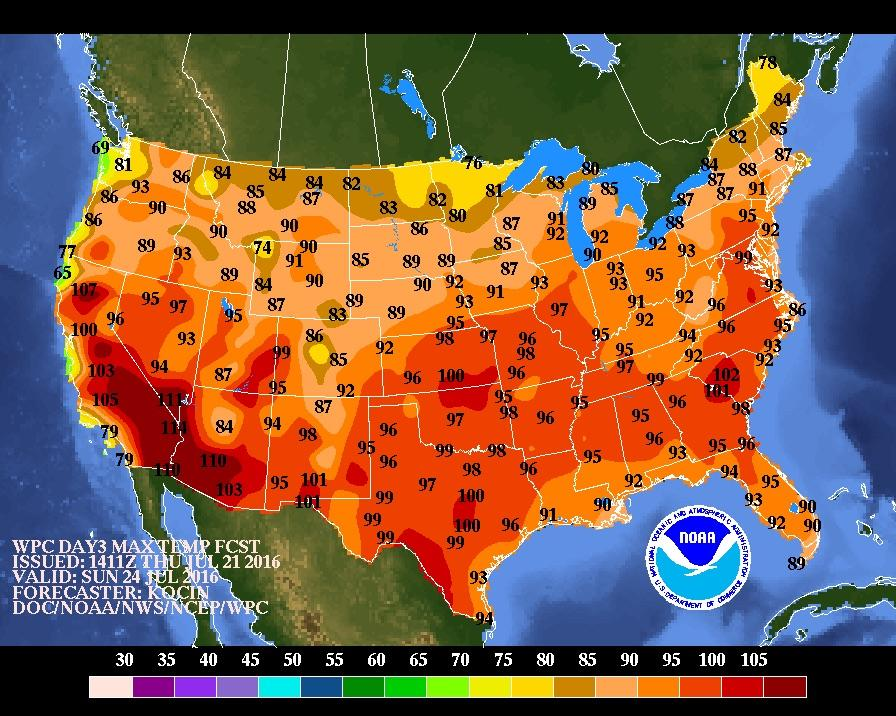 Why The Heat Dome Will Scorch Nearly The Entire US This Weekend - Us weather map weekend