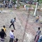 Sri Lanka bombings: Suicide bomber shown calmly walking through courtyard moments before deadly church explosion