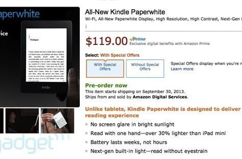 Amazon's new Kindle Paperwhite officially announced, ships September 30th