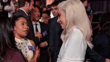 Cuando una novata se topa con la diva más inalcanzable: Yalitza Aparicio conoce a Lady Gaga