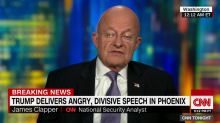 'DOWNRIGHT SCARY AND DISTURBING': James Clapper questions if Trump is 'looking for a way out'