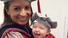 This MIT scientist dressed her baby in a handmade cap and gown for graduation