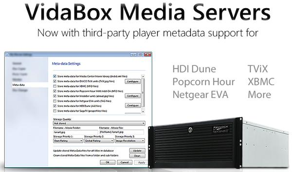 VidaBox Media Servers add metadata support for XBMC, Popcorn Hour and others