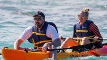 Ben Affleck and Lindsay Shookus Have a Blast Kayaking in Hawaii