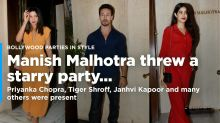 Priyanka Chopra, Tiger Shroff, Janhvi Kapoor Party at Manish Malhotra's home