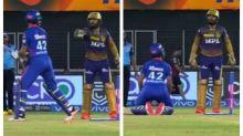 IPL 2021: Shikhar Dhawan Falls To His Knees, Makes Furious Dinesh Karthik Laugh Mid-Match | WATCH