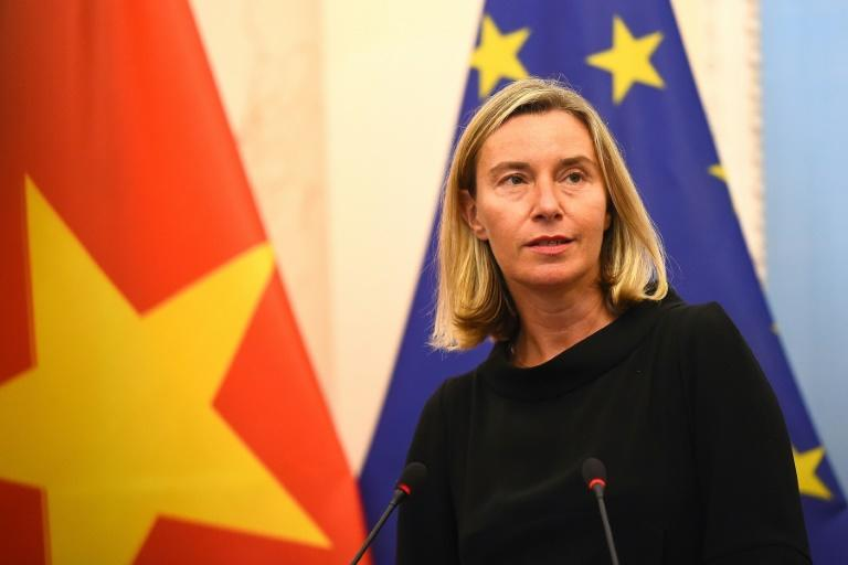Free seas: The EU has called for freedom of navigation in the disputed South China Sea which Beijing claims most of