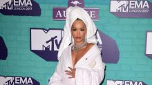 MTV EMAs 2017: Rita Ora wows on the red carpet in just a dressing gown and towel