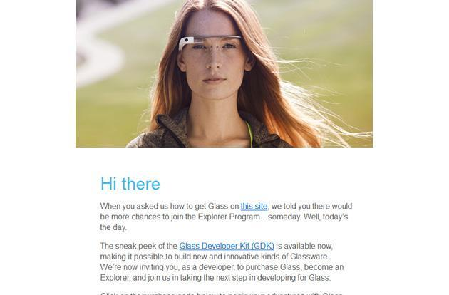 Google now inviting developers to buy Glass